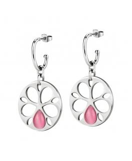 Orecchini Morellato Fiore acciaio rosa - 45 mm