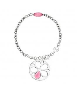 Bracciale Morellato Fiore acciaio rosa - 19/22 cm