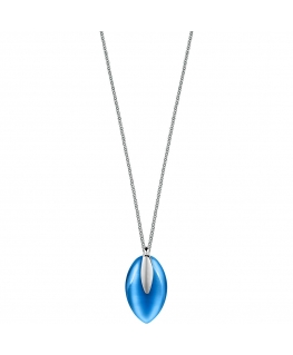 Pendente Morellato Profonda acciaio blu - 40/45 cm
