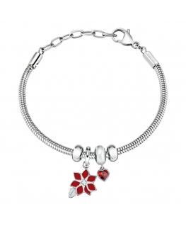 Bracciale Morellato Drops 'Fiore' rosso - 16/19 cm