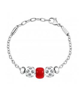Bracciale Morellato Drops Crystal rosso - 16/19 cm