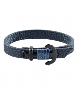 Sector Gioielli Bandy br. blue leather ip black 235mm uomo SZV31