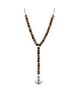 Sector Gioielli Natural pend.rosary tiger eye anchor ele uomo