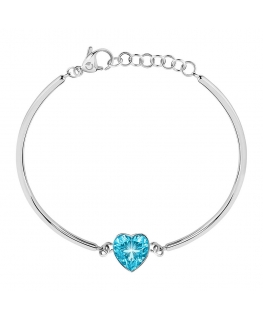 Sector Gioielli Emotion br.ss light blue heart stone femminile