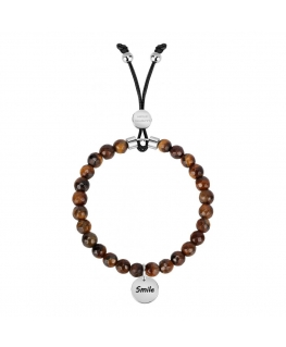 La Petite Story Br. with natural stone tiger eye smile