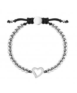 La Petite Story Bracelet with boules ss heart