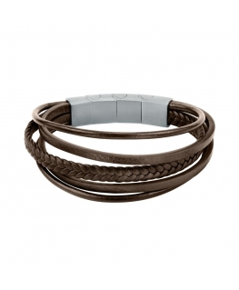 Sector Bandy br. ss+brown leather strap
