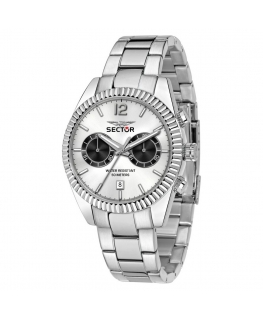 Sector 240 gents 41mm mult w/silver dial ss b uomo R3253240007