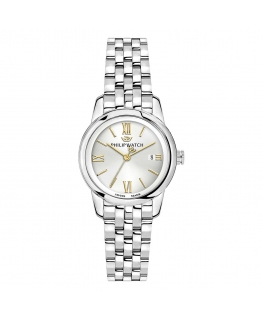 Philip Watch Anniversary 30mm 3h wsilver dial br ss donna