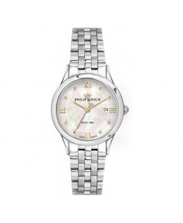 Philip Watch Marilyn 31mm 3h white mop dial br ss femminile