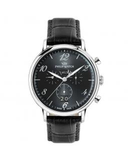 Philip Watch Truman chr 41mm gray dial black st uomo R8271695002