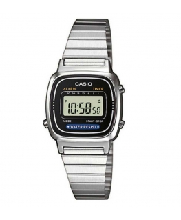 Orologio Casio Vintage mini silver / nero - 26 mm