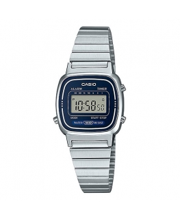 Orologio Casio Vintage mini silver / blu - 26 mm