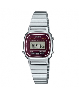 Orologio Casio Vintage mini silver / bordeaux - 26 mm