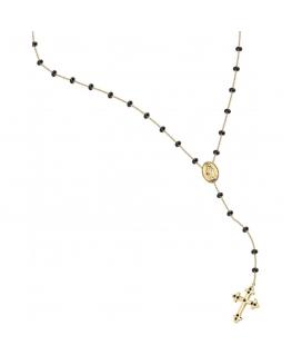 Collana Morellato Devotion rosario nero - 50/70 cm