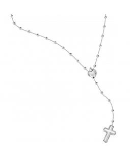 Morellato Devotion long pend. rosary ss heart+cros femminile