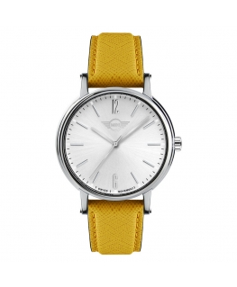 Orologio Mini donna pelle giallo / silver - 38 mm
