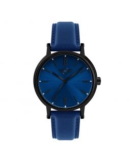 Orologio Mini donna pelle blu / blu - 38 mm