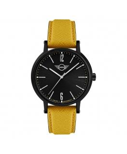Orologio Mini uomo pelle gialla / nero - 42 mm