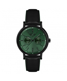 Orologio Mini uomo multi pelle nero / verde - 42 mm