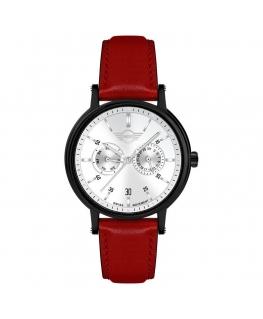 Orologio Mini uomo multi pelle rosso / silver - 42 mm