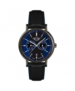 Orologio Mini uomo multi pelle nero / blu - 42 mm