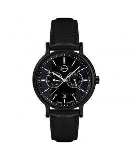 Orologio Mini uomo multi pelle nero / nero - 42 mm