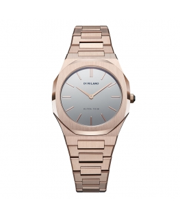 Orologio D1 Milano Lady Ultra Thin oro rosa - 34 mm
