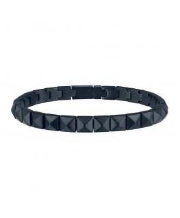 Bracciale Breil Rockers unisex nero - 15/22 cm
