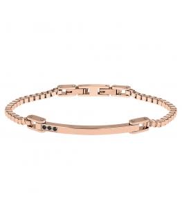 Bracciale Breil Black Diamond oro rosa