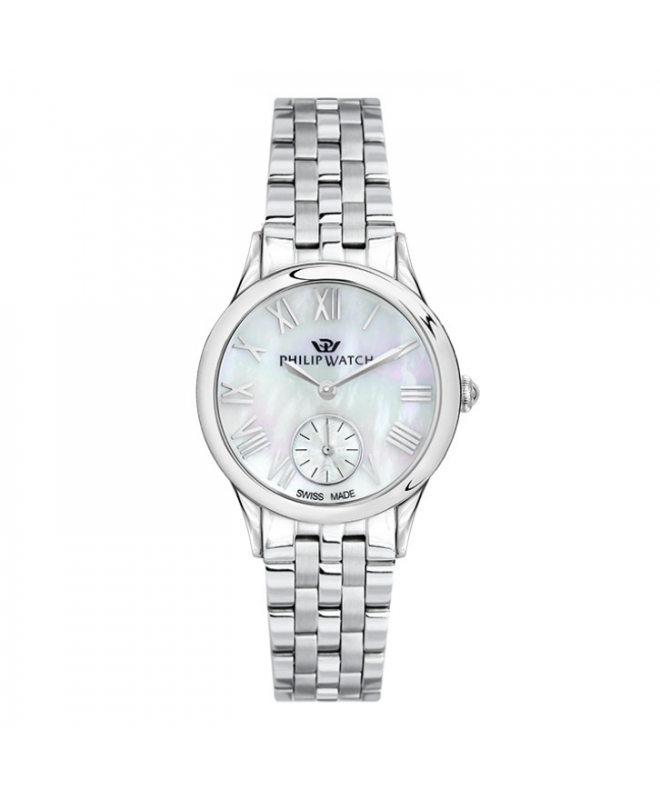 Philip Watch Marilyn 31mm 3h mop natural dial br ss donna - galleria 1
