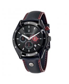 Orologio Maserati Sorpasso chrono pelle nero - 44 mm