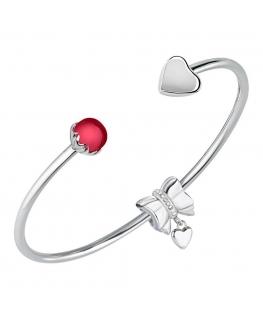 Morellato Drops bangle heart&fuchsia w/love bow donna SCZ1011