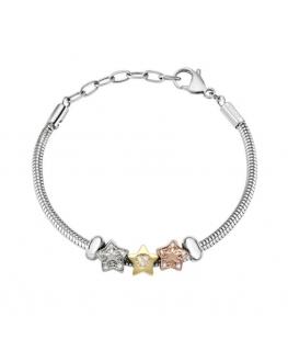 Morellato Drops br. 3 beads snake chain
