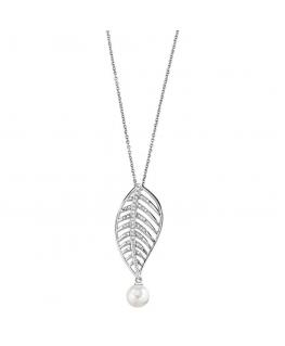 Morellato Foglia pendant ss pearl 40+5cm