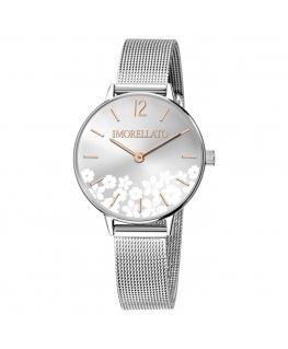 Morellato Ninfa 30mm 2h silver dial mesh ss donna R0153141523