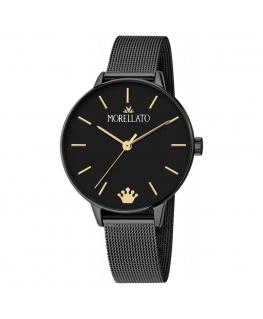 Morellato Ninfa 33mm 3h black dial mesh br black femminile