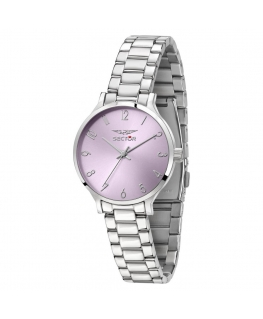 Sector 370 32mm 3h lilac dial br ss