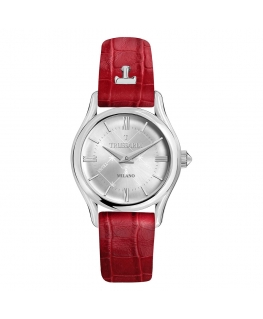 Trussardi T-light 32mm 2h w/silver dial red st