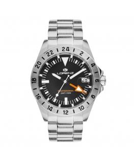 Orologio Lorenz GMT nero - 40 mm