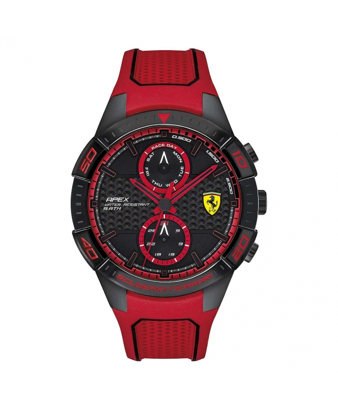 Ferrari Orol ferrari 45.5mm ionic plated black s maschile - galleria 1
