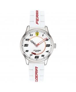 Scuderia Ferrari Orol pitlane 34mm white silicone maschile