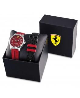 Scuderia Ferrari Orol pitlane 34mm red silicone maschile