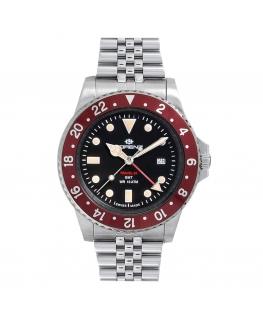 Orologio Lorenz Travel-24 GMT swiss made rosso - 40 mm