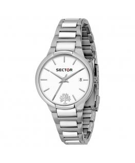 Sector 665 34mm 3h white dial br ss femminile R3253524504