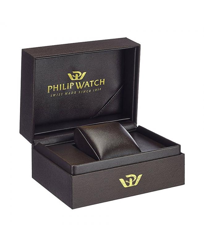 Philip Watch Grand archive 1940 43mm3h blue dial bl s uomo - galleria 3