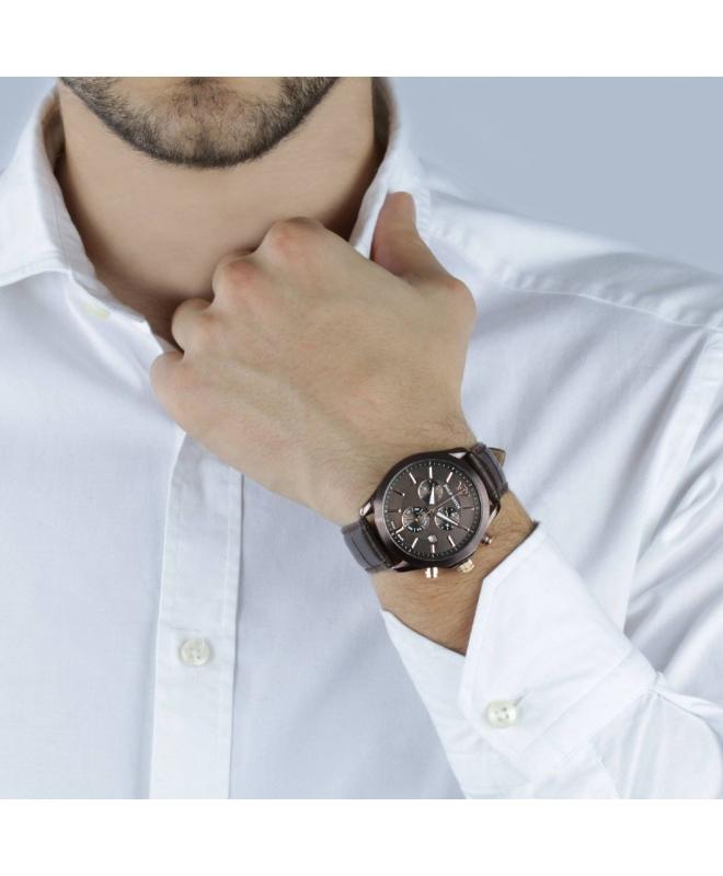 Philip Watch Blaze chr brown dial/brown strap uomo R8271665003 - galleria 2