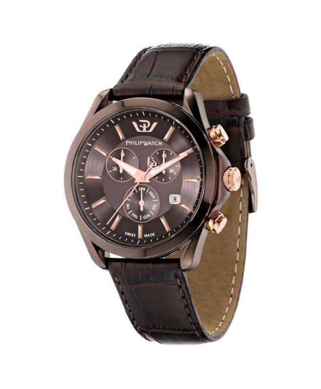 Philip Watch Blaze chr brown dial/brown strap uomo R8271665003 - galleria 1