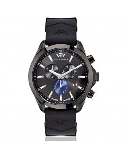 Philip Watch Blaze 41mm chr 6h black dial black ru st uomo