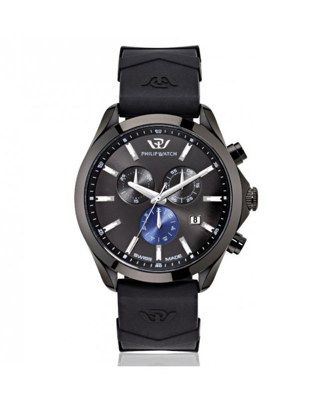 Philip Watch Blaze 41mm chr 6h black dial black ru st uomo - galleria 1
